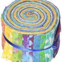 Fabric Editions, LLC Paleta de Tela 2-1/2 Pulgadas por 42 Pulgadas Corta gelatinas 100% algodón, Paquete de 20, Largo Camino Batik