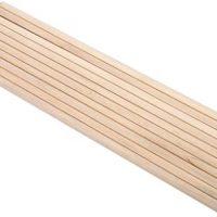 Palos de madera para artesanía, Asixx10pcs 30 cm de largo DIY Artes de madera y artesanía Palos con varillas Barras de poste Herramientas de madera de árboles dulces Ideal para proyectos de arte y manualidades (10 piezas) (8 MM * 30 CM)