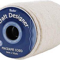 Darice 1 971-15 Macrame Cuerda elástica con 45,72 m Carrete, algodón Natural