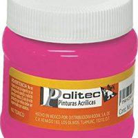 Politec- Pintura acrilica fco 250ml carmin cl politec