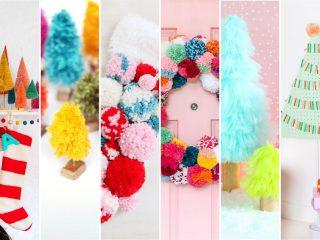6 ideas de Decoraciones Coloridas para Navidad