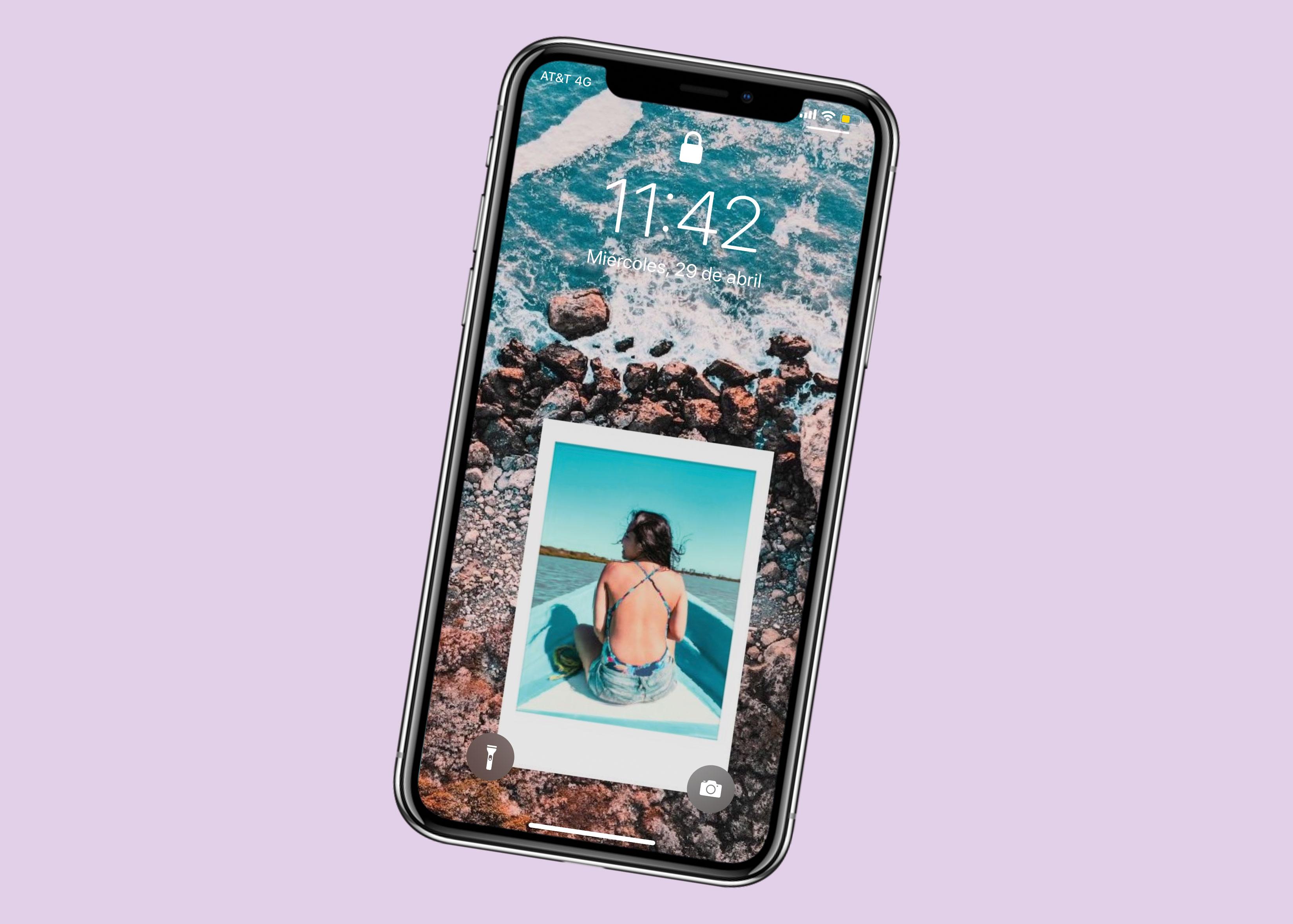 fondo de pantalla con polaroid