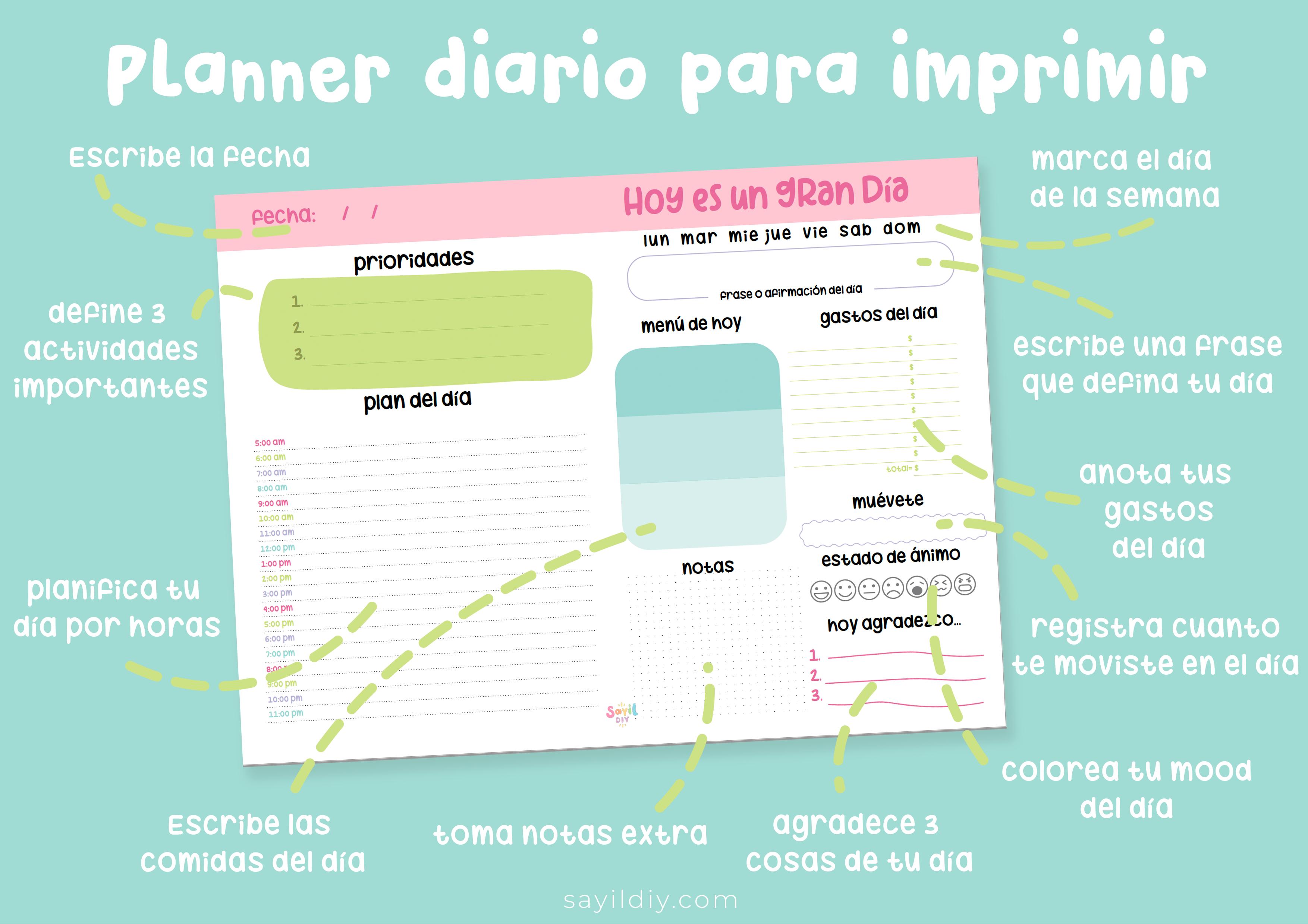 planner diario